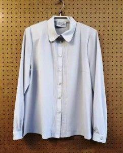 Grijze blouse met lange mouw