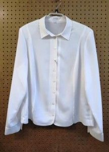 Crème blouse met lange mouw