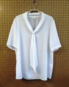 Witte blouse met strik