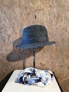 Grijs/blauwe cowboyhoed