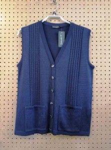 Blauw gilet/mouwloos vestje