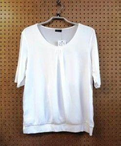 Crème T-shirt blouson