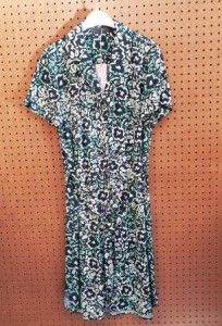 Donkerblauw/groene jurk