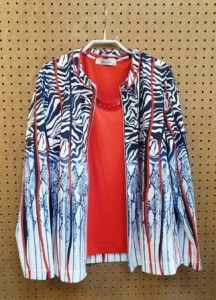 Twinset blauw/wit/rood