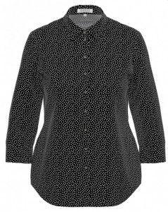 Zwart/witte stip blouse
