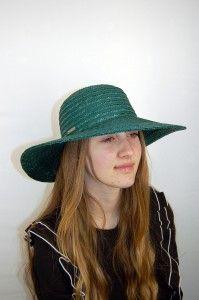 Groene ronde hoed