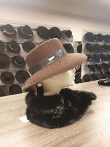 Velour bruine hoed