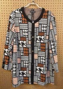 Lange blazer oranje/zwart